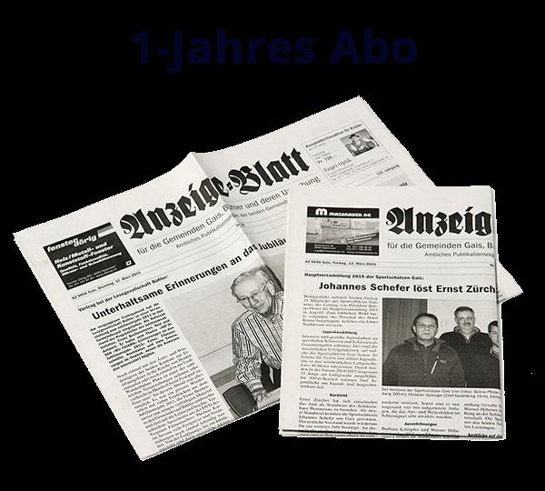 1-Jahres Abo Anzeige-Blatt
