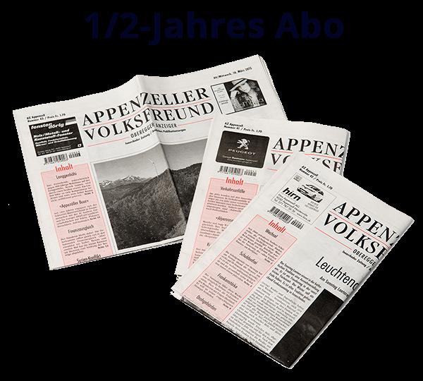 1/2-Jahres Abo Appenzeller Volksfreund